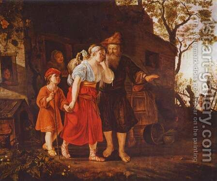 The Expulsion of Hagar by Jan Victors - Reproduction Oil Painting