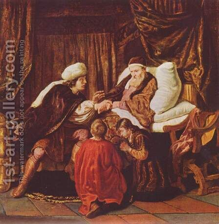 Jacob blesses Joseph's sons by Jan Victors - Reproduction Oil Painting