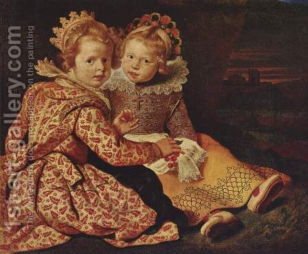 The two daughters of the artist by Cornelis De Vos - Reproduction Oil Painting
