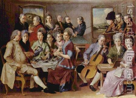 The family of Remy by Januarius Zick - Reproduction Oil Painting