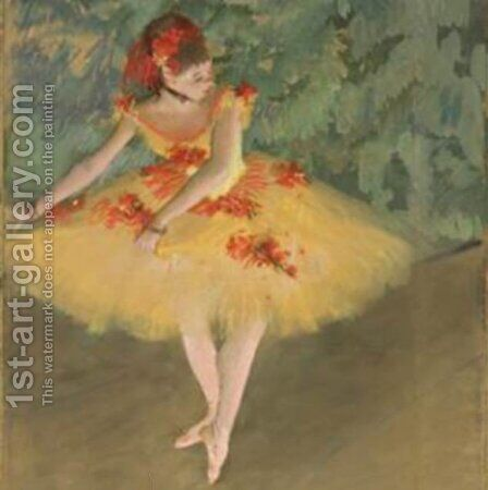 Dancer Making Points by Edgar Degas - Reproduction Oil Painting
