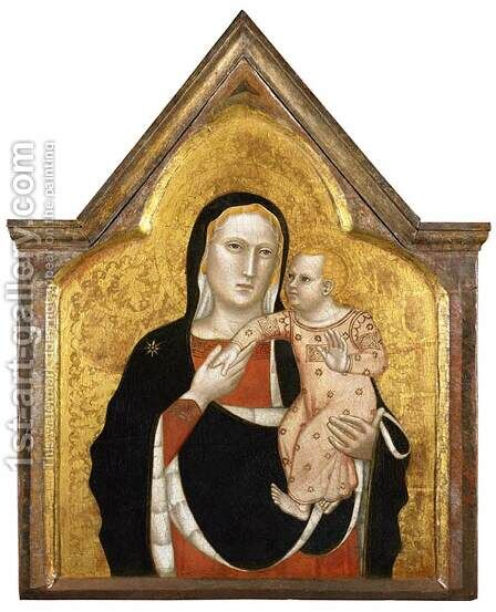 Virgin and Child by Andrea Di  Nerio - Reproduction Oil Painting