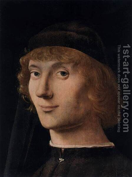 Portrait of a Young Man 2 by Antonello da Messina Messina - Reproduction Oil Painting