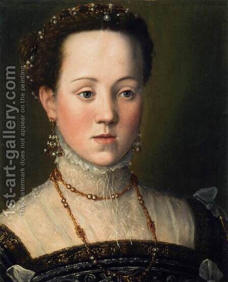 Archduchess Anna, Daughter of Emperor Maximilian II by Giuseppe Arcimboldo - Reproduction Oil Painting