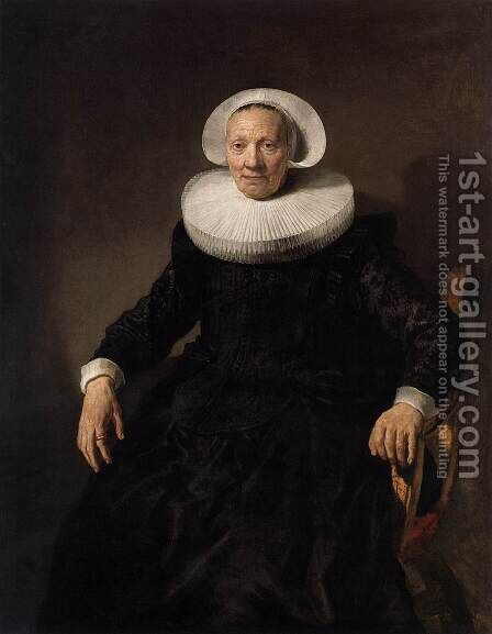 Portrait of a Woman by Jacob Adriaensz Backer - Reproduction Oil Painting