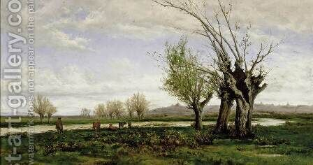 The Banks of the Manzanares River by Aureliano de Beruete y Moret - Reproduction Oil Painting