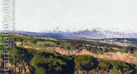 View of the Sierra de Guadarrama by Aureliano de Beruete y Moret - Reproduction Oil Painting