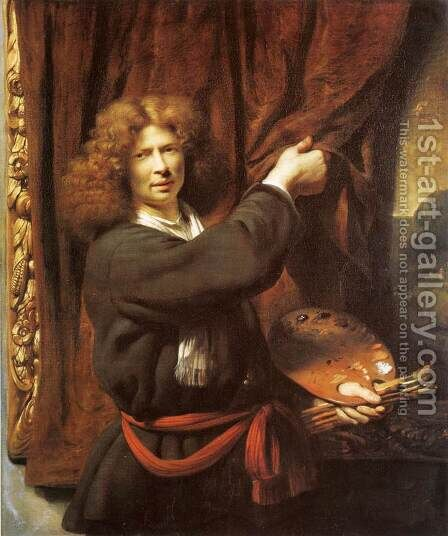 Self-Portrait by Cornelis Bisschop - Reproduction Oil Painting
