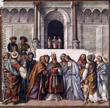 Betrothal of Mary by Boccaccio Boccaccino - Reproduction Oil Painting