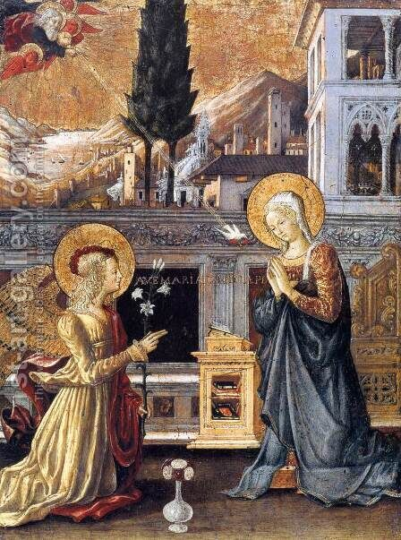 Annunciation by Benedetto Bonfigli - Reproduction Oil Painting