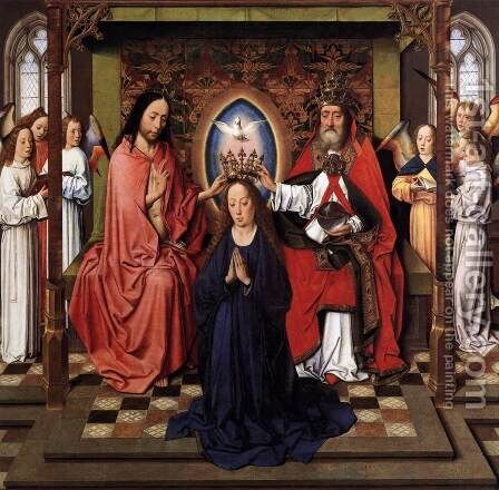 Coronation of the Virgin by Dieric the Elder Bouts - Reproduction Oil Painting