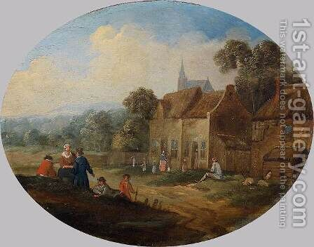 Landscape by Jan Frans van Bredael - Reproduction Oil Painting