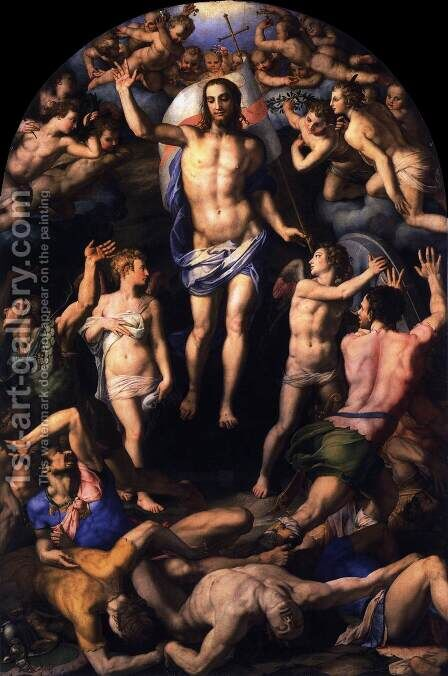 Resurrection by Agnolo Bronzino - Reproduction Oil Painting