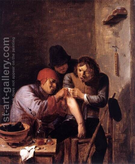 Feeling by Adriaen Brouwer - Reproduction Oil Painting