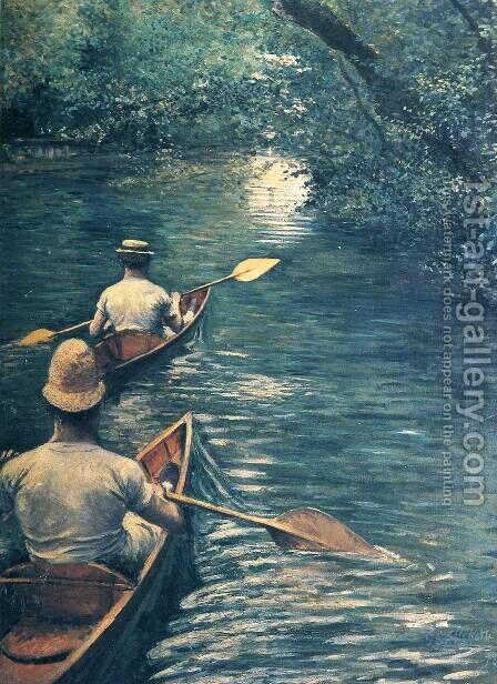 Canoeing by Gustave Caillebotte - Reproduction Oil Painting