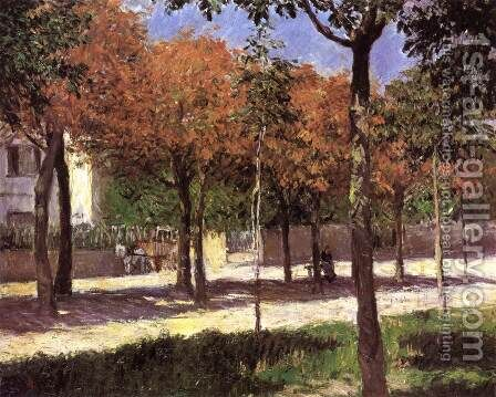 Square at Argenteuil by Gustave Caillebotte - Reproduction Oil Painting