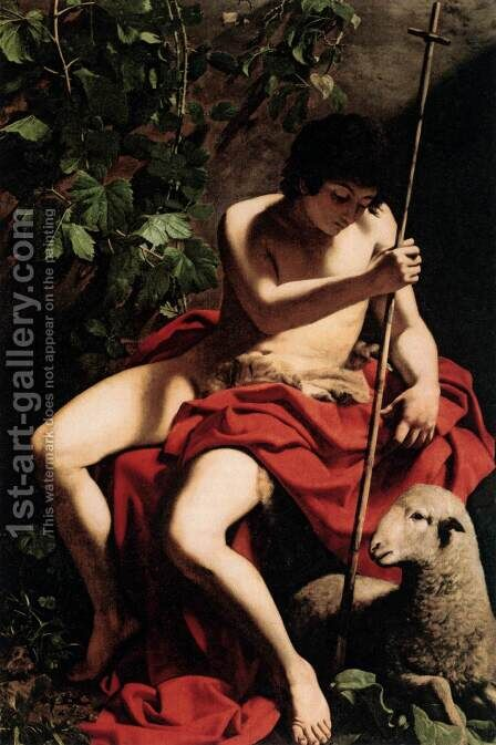 St John the Baptist 3 by Caravaggio - Reproduction Oil Painting