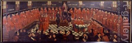 Opening Session of the Parliament of Burgundy by Jan  Coessaet - Reproduction Oil Painting