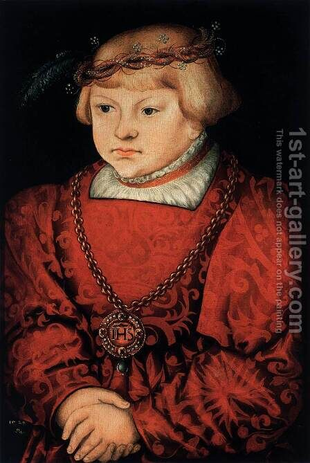 Portrait of a Prince by Hans Cranach - Reproduction Oil Painting