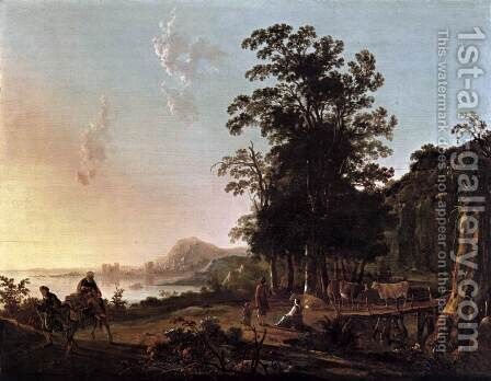 Landscape with the Flight into Egypt by Aelbert Cuyp - Reproduction Oil Painting