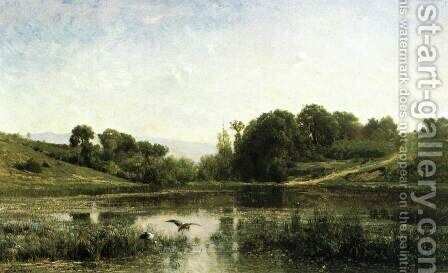 The Pool at Gyliez by Charles-Francois Daubigny - Reproduction Oil Painting