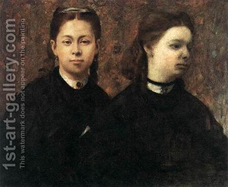 Double Portrait by Edgar Degas - Reproduction Oil Painting