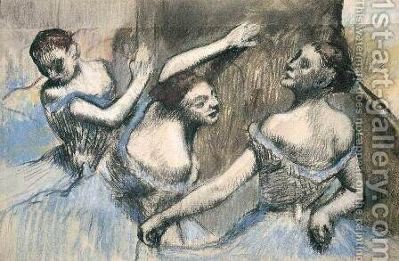 Three Dancesrs by Edgar Degas - Reproduction Oil Painting
