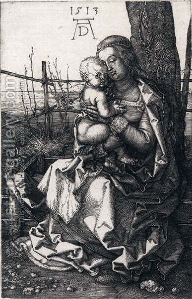 Virgin and Child by a Tree by Albrecht Durer - Reproduction Oil Painting
