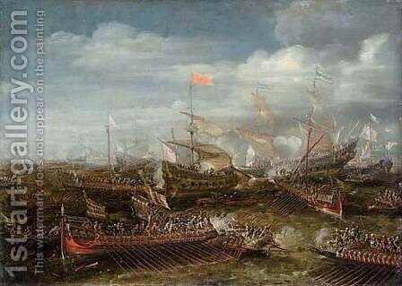 Battle of Lepanto by Andries Van Eertvelt - Reproduction Oil Painting