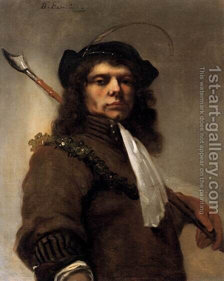 Self-Portrait as a Shepherd by Barent Fabritius - Reproduction Oil Painting
