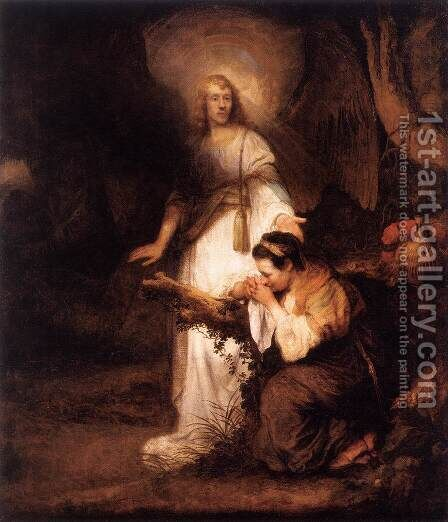 Hagar and the Angel by Carel Fabritius - Reproduction Oil Painting