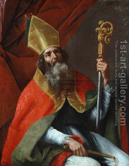 St Ambrose by Cesare Fracanzano - Reproduction Oil Painting