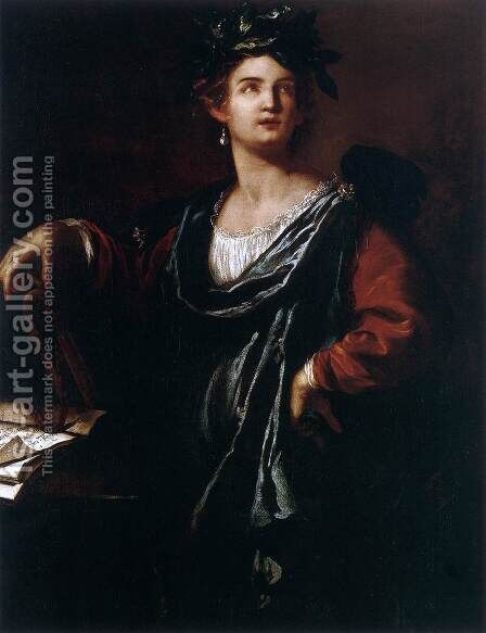 Clio, the Muse of History by Artemisia Gentileschi - Reproduction Oil Painting