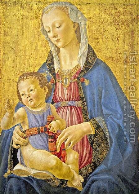 Madonna and Child by Domenico Ghirlandaio - Reproduction Oil Painting