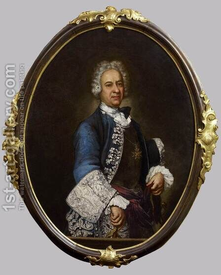 Portrait of an Order of St Stephen's Knight by Giuseppe (Fra Vittore Galgario) Ghislandi - Reproduction Oil Painting