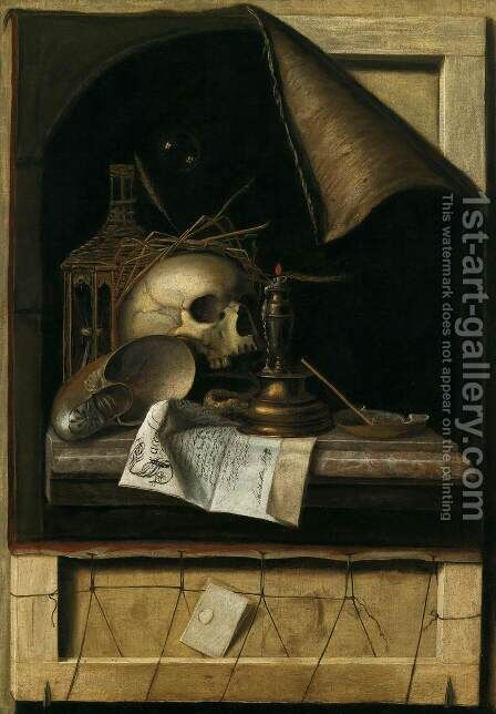 Vanitas Still-Life by Cornelis Gijsbrechts - Reproduction Oil Painting
