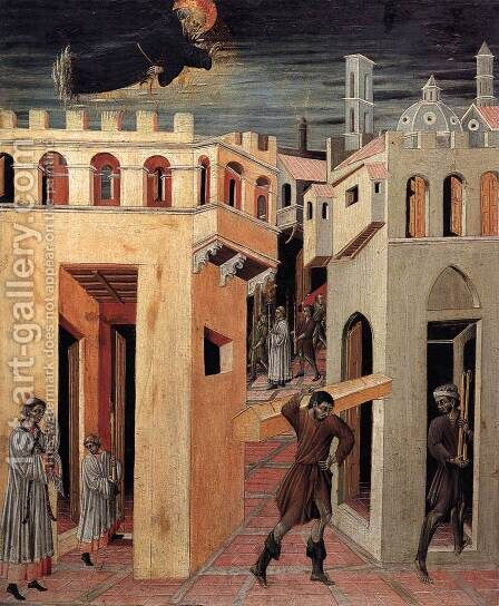 A Miracle by St Nicholas of Tolentino by Giovanni di Paolo - Reproduction Oil Painting