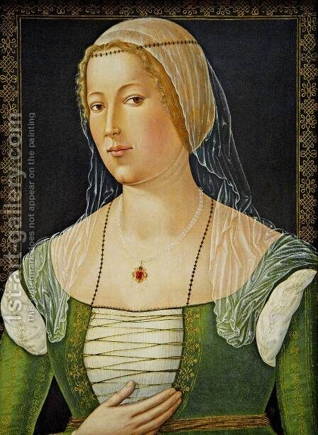 Portrait of a Young Woman by Girolamo Di Benvenuto - Reproduction Oil Painting