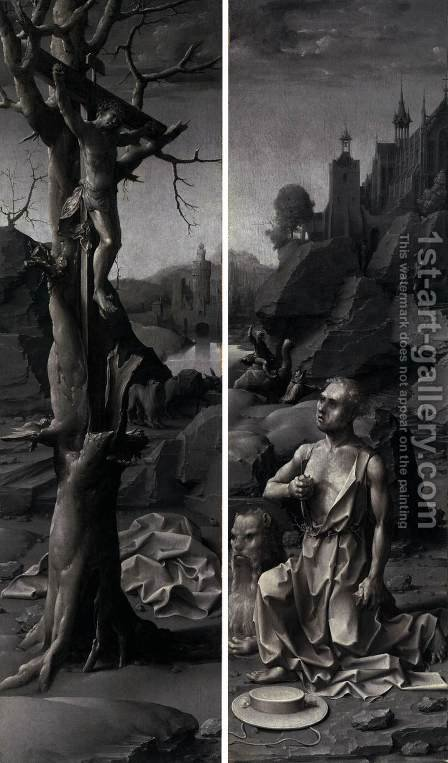 St Jerome Penitent by Jan (Mabuse) Gossaert - Reproduction Oil Painting