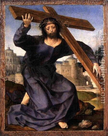 Christ Carrying the Cross by Jan (Mabuse) Gossaert - Reproduction Oil Painting