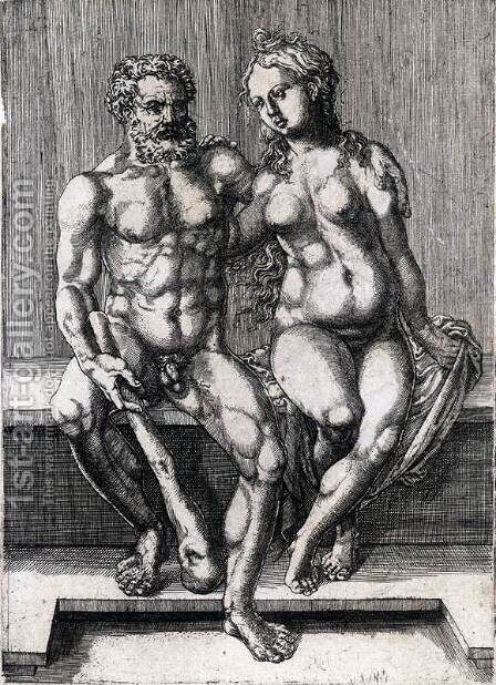 Hercules and Deianira 2 by Jan (Mabuse) Gossaert - Reproduction Oil Painting