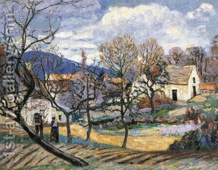 Outskirts of Paris by Armand Guillaumin - Reproduction Oil Painting