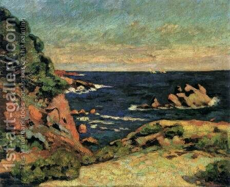 View of Agay by Armand Guillaumin - Reproduction Oil Painting