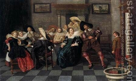 A Banquet by Dirck Hals - Reproduction Oil Painting