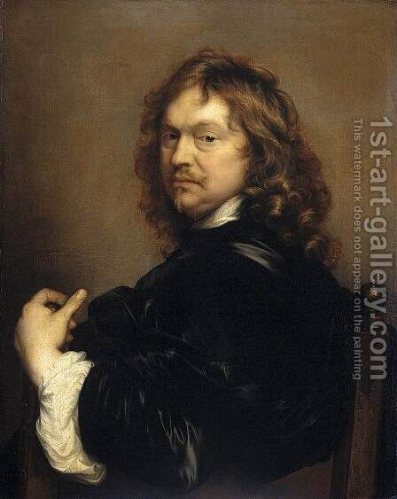 Self-Portrait by Adriaen Hanneman - Reproduction Oil Painting