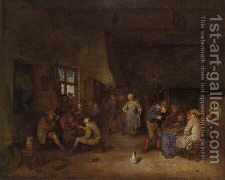 Tavern Interior with Chess Players by Egbert Jaspersz. van, the Elder Heemskerck - Reproduction Oil Painting