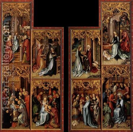 Wings of the Kaisheim Altarpiece (inner view) by Hans, The Elder Holbein - Reproduction Oil Painting