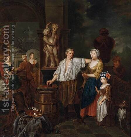 At the Painter's Studio by Jan Jozef, the Younger Horemans - Reproduction Oil Painting