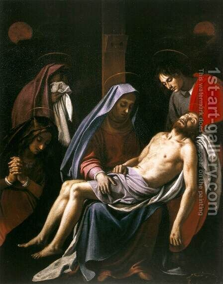 Deposition by (Jacopo Chimenti) Empoli - Reproduction Oil Painting