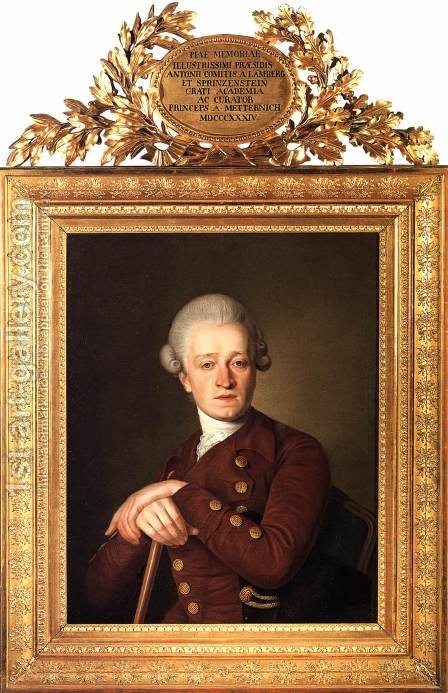 Portrait of Anton Franz de Paula, Count Lamberg-Sprinzenstein by Christian  Kollonitsch - Reproduction Oil Painting